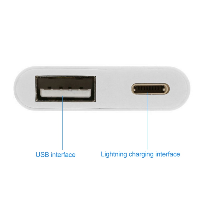 2 in 1 OTG for iPhone to USB Camera Reader Adapter Charge Connector Kit Data Sync Cable for iPhone/iPad USB Adapter