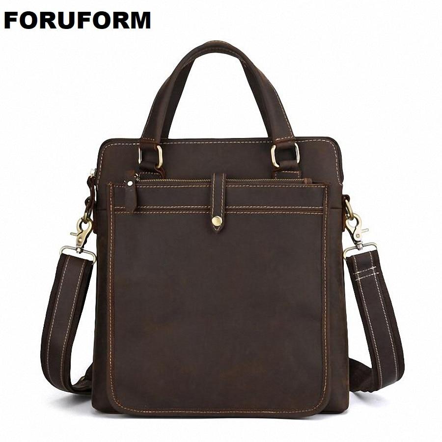 2019 Männer Casual Aktentasche Business Schulter Tasche Leder Messenger Taschen Computer Laptop Handtasche Tasche Männer Reisetaschen Li-2488 Reich Und PräChtig