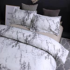 Image 3 - 12 ألوان طقم سرير الشمال الحديثة نمط الرخام نمط لحاف مطبوع مجموعة غطاء مزدوج كامل الملكة سرير ملكي الكتان 8 الحجم
