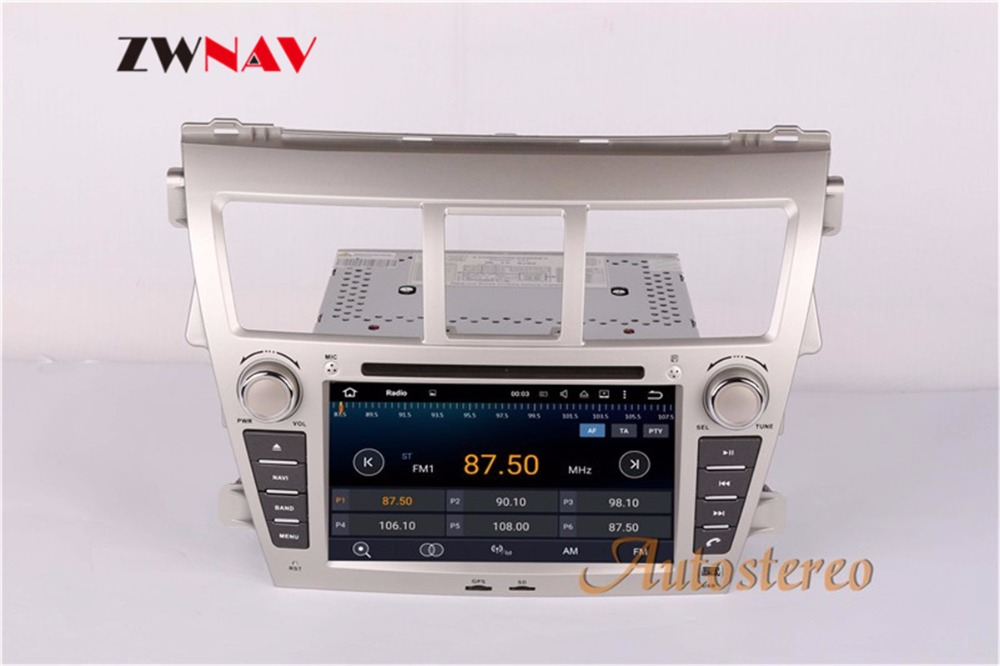 Excellent ZWNAV Android 8.0 Car Stereo Radio DVD Player GPS Navigation For TOYOTA Yaris Sedan 2006-2012 Vios 2007-2012 Belta 2005-2008 3