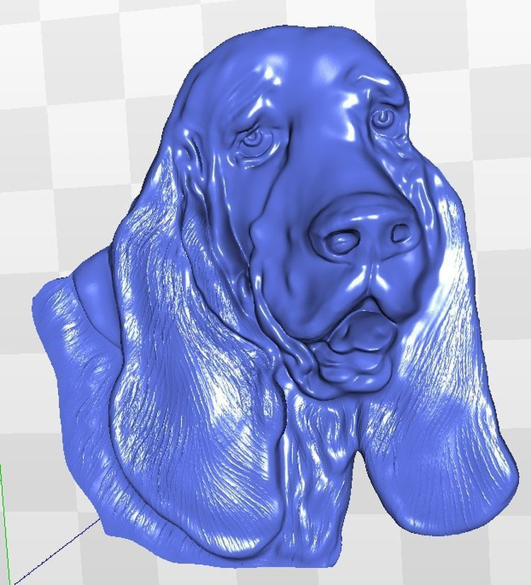 spaniel 3d relief  model for cnc in STL file model relief format 3d for cnc in stl file rosette 60 3d