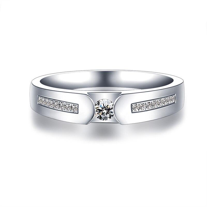 18 Karat Gold Diamant-ring Farbe Gold Paar Auf Dem Ring Platin Diamantring...