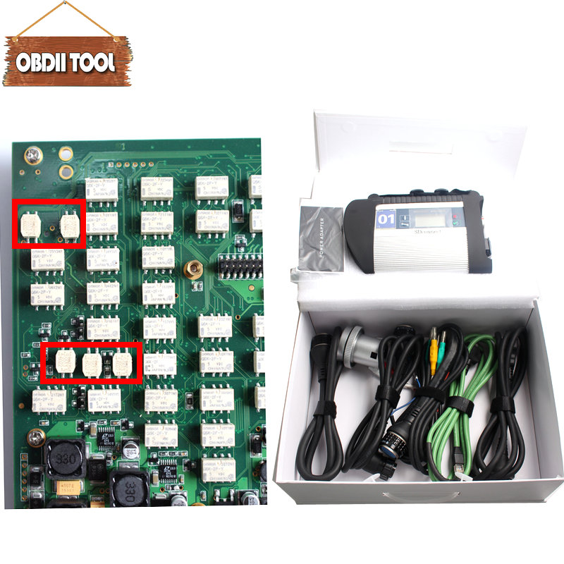 Full chip Full Set MB Star C4 Sd Connect 100925 z Car & Truck Diagnostic Tool with Wifi Function MB SD C4 multiplexer