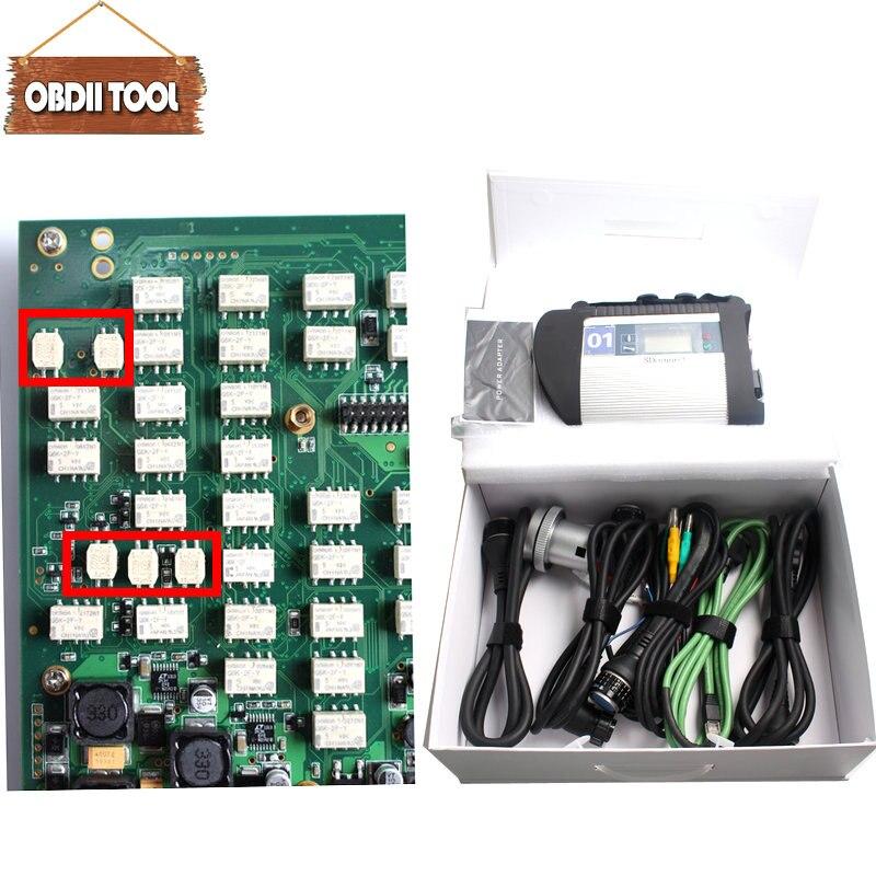 Plein puce évantail complet MB Étoiles C4 Sd Connecter 100925 z Car & Truck Outil De Diagnostic avec Fonction Wifi MB SD c4 multiplexeur