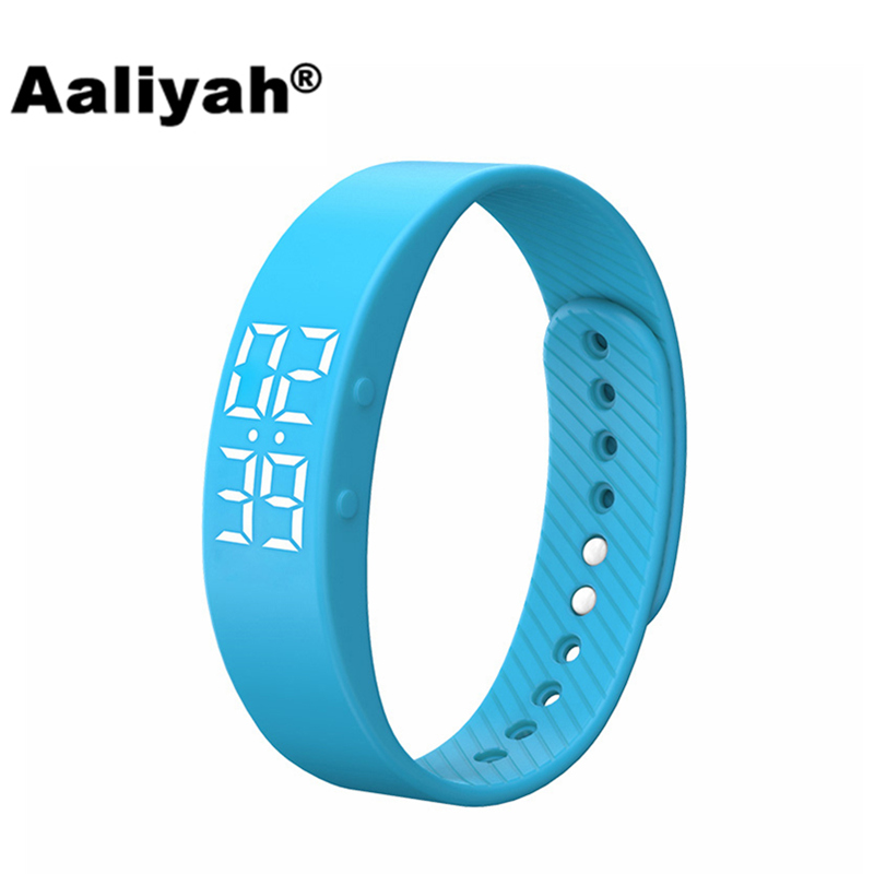 Aaliyah T5 Bluetooth Smart Wristbands Watch Bracelet Sport Fitness Tracker Calorie Pedometer Children Waterproof For iOS Android