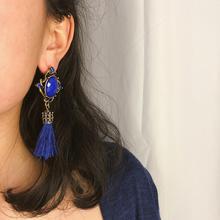 Bohemian Earrings For Women Kolczyki Pendientes Mujer Jewellery Boho Tassel Vintage Long Drop Earring Brincos Femme