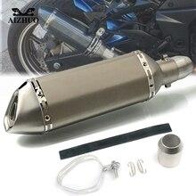Motorcycle Exhaust pipe Muffler Escape DB-killer 36MM-51MM FOR YAMAHA FAZER600 MT-03 MT-25 MT03 MT25 MT 07 XP500 530 51mm 36mm for yamaha yz wr serow ttr xt 50 80 85 90 100 125 225 230 250 426 motorcycle ak exhaust muffler pipe db killer