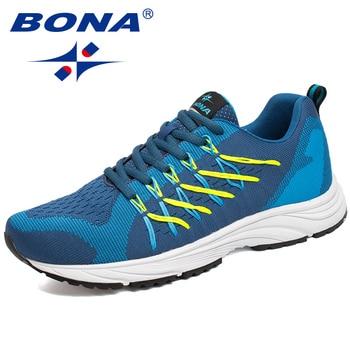 BONA Nieuwe Bassics Stijl Mannen Loopschoenen Lace Up Sportschoenen Outdoor Walking Jogging Sportschoenen Populaire Comfortabele Sneakers