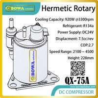 Los compresores giratorios de velocidad variable DC24V tienen un amplio rango de capacidad de refrigeración y escalas de temperatura de enfriamiento más grandes para el sistema HVAC/R