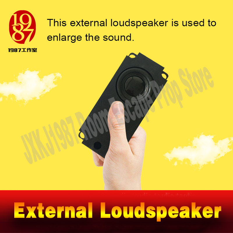 Room escape prop external loudspeaker to enlarge the sound from JXKJ1987 for adventurer game puzzle a spare horn chamber room