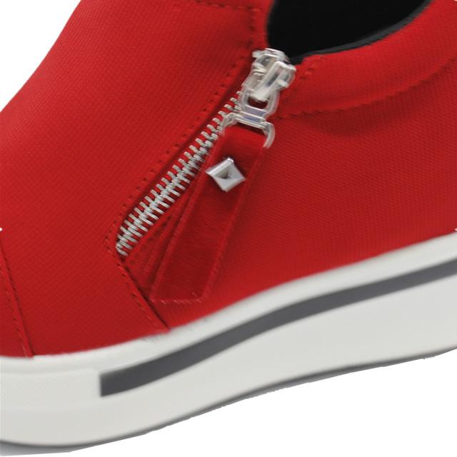 2017 Fashion Women Summer High Heel Wedge Shoes Woman Increased Internal Zipper Rivet Pumps Summer Ladies Spring Stiletto