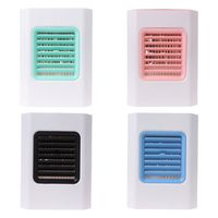 1 Set New Mini Portable USB Air Cooler Handheld Air Conditioner Fan Humidifier with LED Night Light for Home Room Office Desktop