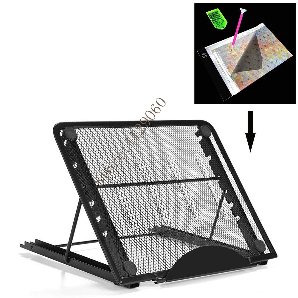 5D DIY Color Metal Stander For A Led Light Pad Box Tablet Board Diamond Painting Particular Design Multi angle Adjustment Gifts in Diamond Painting Cross Stitch from Home Garden