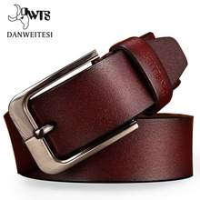 Vintage Style Pin Buckle Genuine Leather Belt For Men
