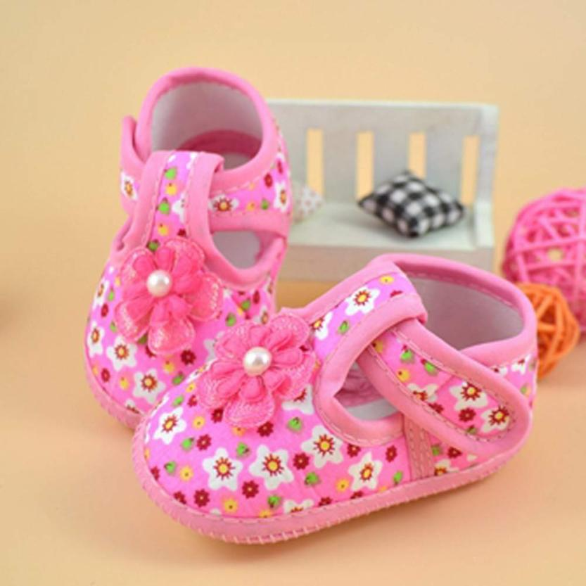 2017 Jaycosin Hot Baby Flower Boots Soft Cloth Crib Shoes Comfortable Levert BTTF