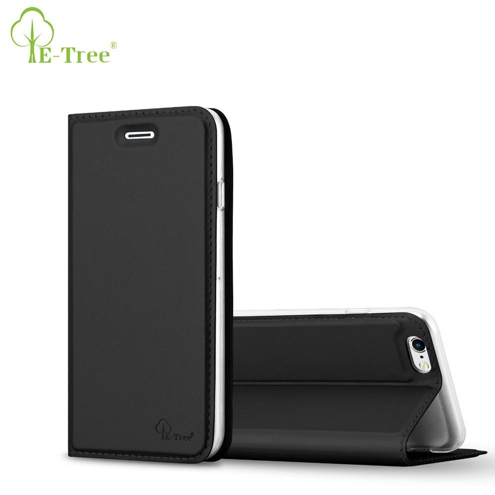 E-дерево бренд PU откидная крышка кожаный чехол для iPhone 6 кожаный чехол для iPhone 6 S Coque телефон с Обложка отделения для карточек и стоять