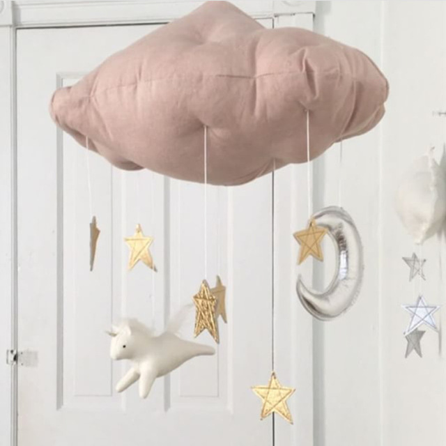 newborn baby bedding set Nordic Style Clouds and stars Newborn Boy Girl Toys Gift Hanging for Crib Tent Ornament Room Decoration
