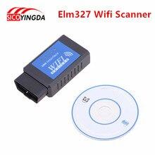 Best quality elm327 Wifi Scanner Diagnostic Tool elm 327 wifi obd2 scanner V 2.1 Wireless Works on elm327 Torque