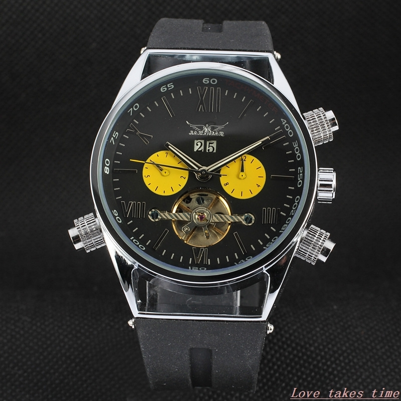 New Men Sports Watches Automatic Mechanical Wrist Watches Luxury Top JARAGAR Automatic Flying Tourbillon Watches automatic spanish snacks automatic latin fruit machines