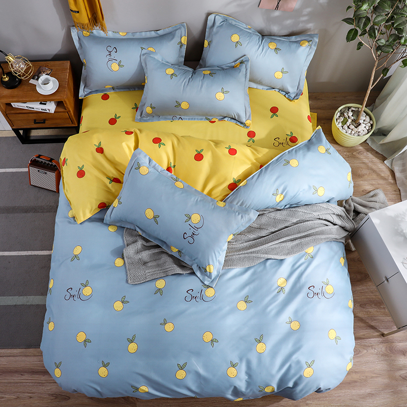 Pillowcase Bedding-Set Decoration Thickening Duvet-Cover Bed-Sheet No-Quilt Double-Bed