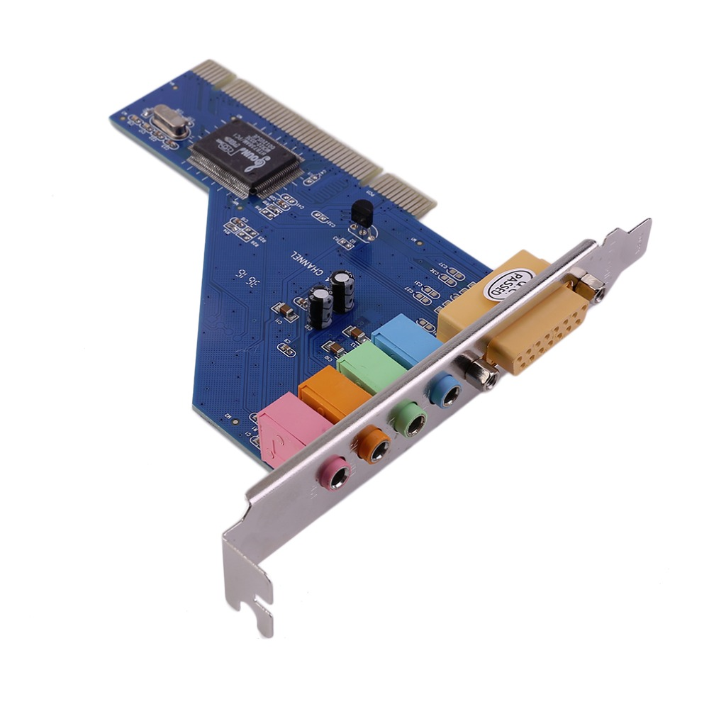 2017 New 4 Channel 5.1 Surround 3D PCI Sound Audio Card for PC Windows XP/Vista/7 promotion high quality brand new channel 3d 7 1 usb external sound card sound box support digital audio streaming vista with driver cd