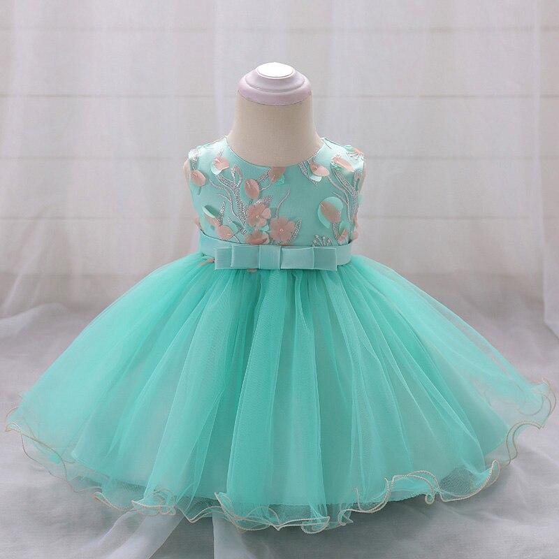 Retail Flower Girls Dresses Princess Wedding Gown dress Baby Girl Birthday Baptism Dress For 6-24 month L1848XZ