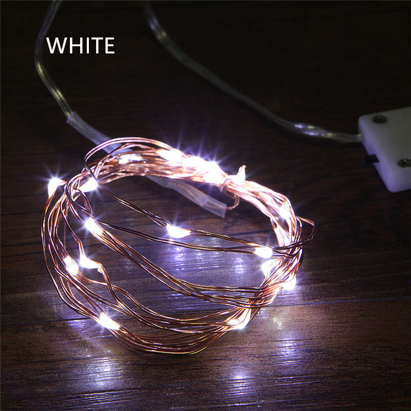 LED Fairy String Light 1M 2M 5M Copper Wire LED Strip Holiday Light Party Wedding Garland Lighting Decoration CR2032 Battery in LED String from Lights Lighting