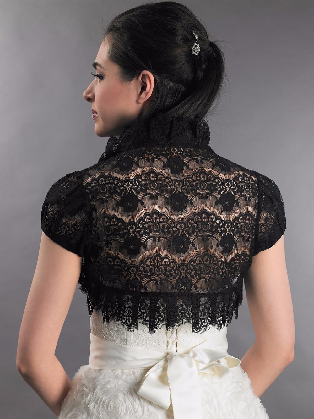 Aliexpress.com : Buy Lace Bolero Jackets for Evening Dresses Black ...