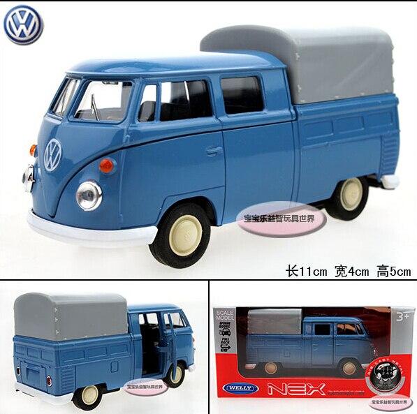 1 unid Wyly welly t1 Picard de bus vw azul refinado caja de regalo de lujo de aleación modelo de coche regalo de los niños
