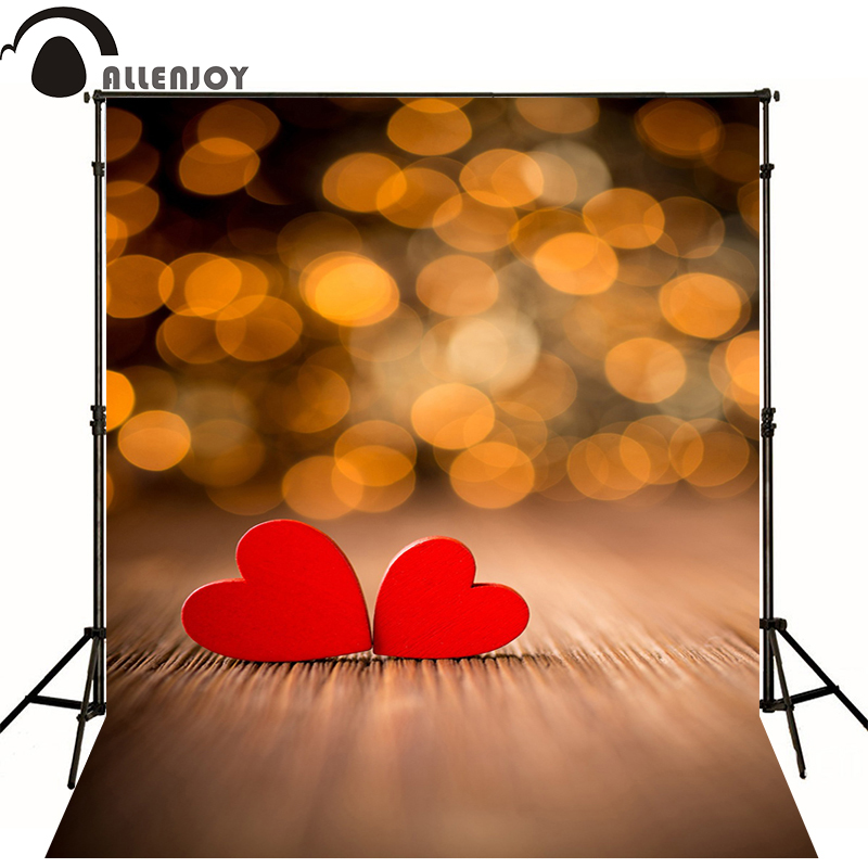 Allenjoy love Photo background shiny bokeh and love red hearts Valentines Day wedding Backdrops for a photo shoot bicycle lpv love promise of vow poke valentines day gifts