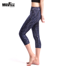 MUSCLE ALIVE Sexy Mesh Leggings Women's Workout Leggins Casual Ladies Sporting Polyester Slim Leggings S-L 3 Color
