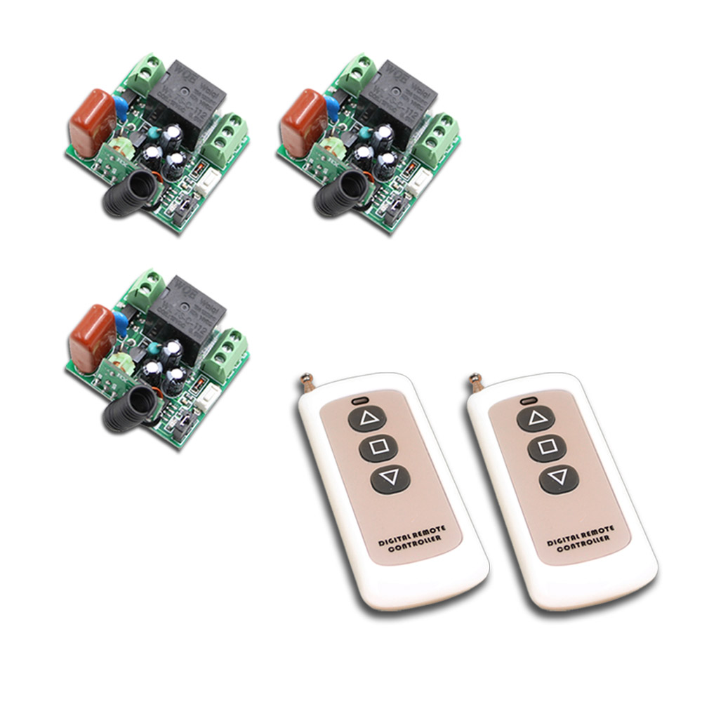 AC 220V 1CH 10A RF Wireless Remote Control Switch Remote Switching Mini Relay Receiver & 2Transmitter 315Mhz/433Mhz ac 220v 1ch rf wireless remote switch wireless light lamp led switch 1 mini receiver 4 transmitters on off 315mhz or 433mhz