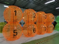 PVC Or TPU Pop Human Inflatable Football Bumper Bubble Ball For Amusement Park