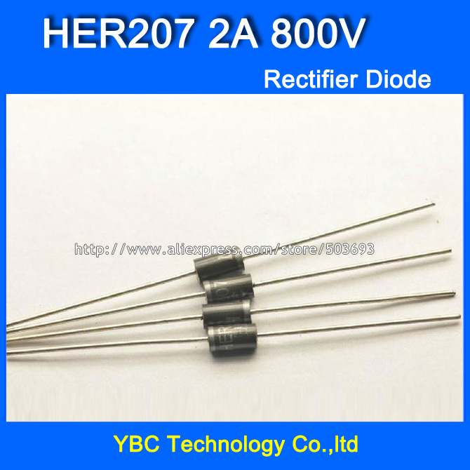 20PCS Ultrafast recovery diode HER207 2A 800V