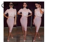 2019 New Sexy Pencil Bodycon Skirt Striped Knee Length Bandage Skirts Wear To Work Summer Wholesale