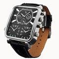 2016 бренд часы мужчины часы V6 движение модный бренд спорта на открытом воздухе большой циферблат кварцевого кожаный ремешок