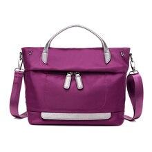 ผู้หญิงไนลอนกันน้ำไหล่กระเป๋าหรูกระเป๋าผู้หญิงMessengerได้ออกแบบกระเป๋ามัลติฟังก์ชั่เดินทางซิปB Olsos 1115