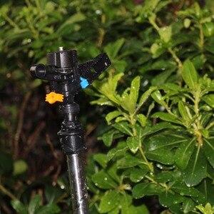 Image 5 - 10 adet otomatik döndürme kol meme 20mm erkek konu iki delik ayarlanabilir olmayan tarım sulama bahçe çim fıskiyesi su sis