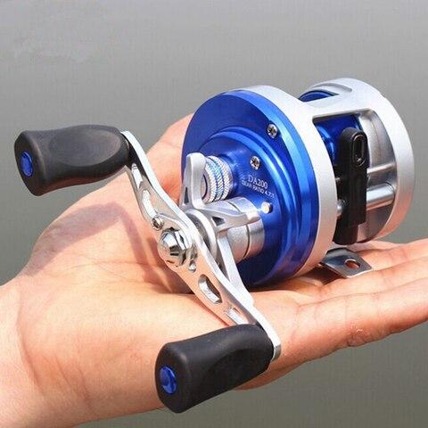 duplo freio centrifugo 4 7 1corrosion resistant rolamentos carretel de pesca fiacao metalica direita mao