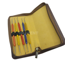 5pcs Dental Lab  Aluminum rod Wax Carving Tools Set Surgical Dentist Sculpture Knife kit цены