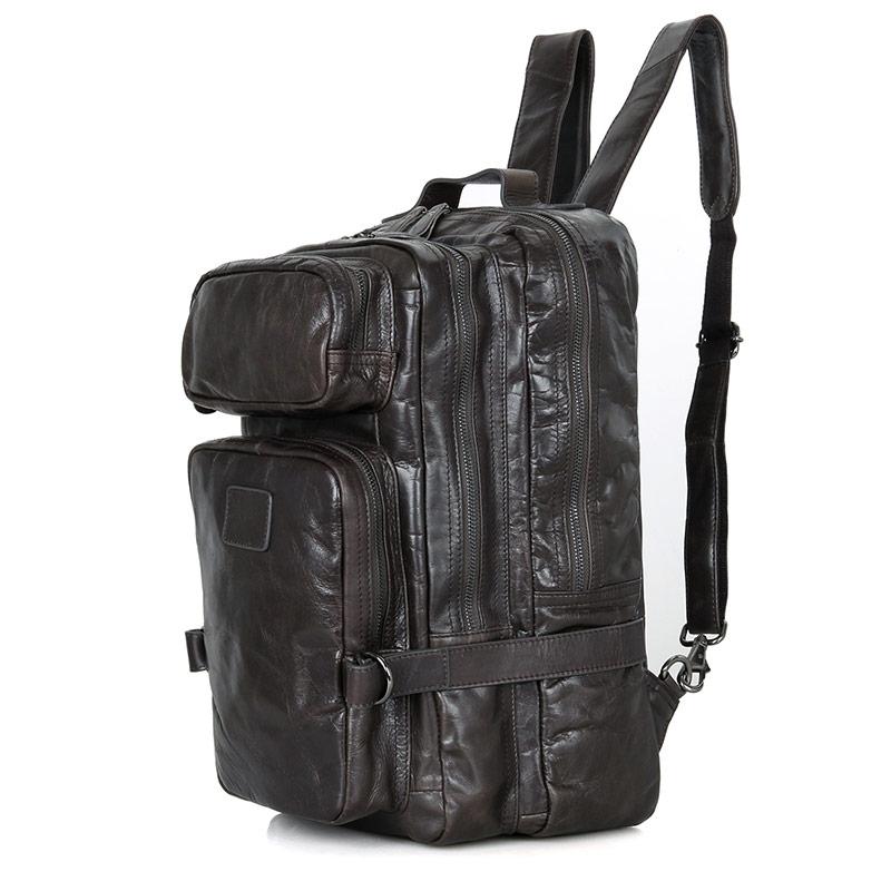 J.M.D Large Capacity Real Leather Men's Backpack Top Fasion Designerfor School BackpackTravelling 7039I sinix sinix 7039