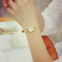 Women Watches Imitation watch Best watches Luxury Elegant Fashion Rhinestone Gold Relogio Mesh Female Clock