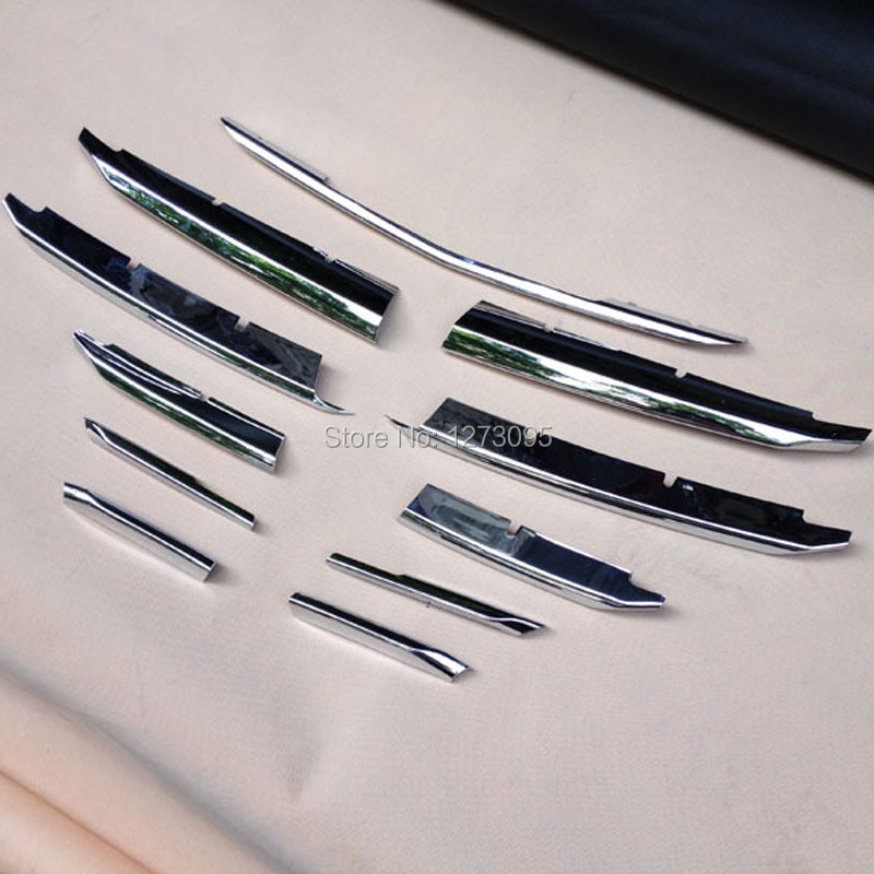 For Mazda 3 Axela 2014 2015 2016 ABS Chrome Front Grille Trim Center Grill Cover Around Trim Car Styling Accessories 11 pcs/set high quality abs chrome 2pcs up grill trim lower grill trim grill decoration trim grill streamer for honda city 2015 216