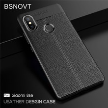 For Xiaomi Mi 8 SE Case Soft Silicone PU Leather Shockproof Cover Funda 5.88 BSNOVT
