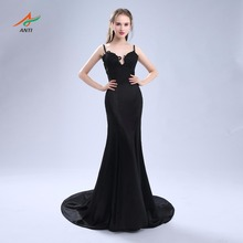 ANTI Sexy Mermaid Evening Dress Formal Dresses Spaghetti Strap Appliques Sweet 16 Years Party Prom Gowns  Fast Shipping Hqy1345 свитшот sweet years sweet years sw012emglfs6