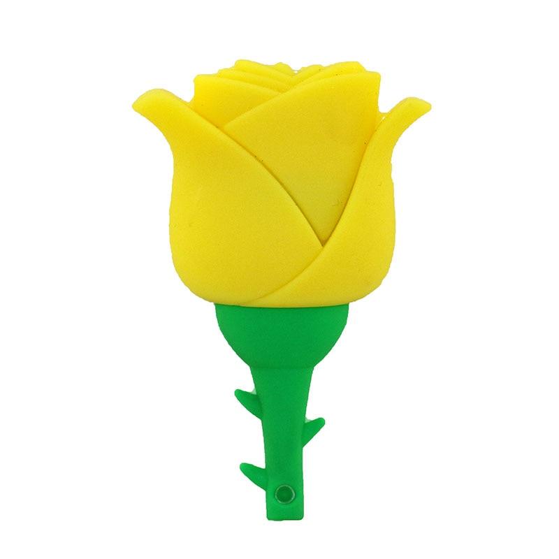 Beauty Rose Design Valentine Gift Silicone USB Flash Drive USB 2.0 - Externe opslag - Foto 4