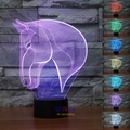 Free Shipping 3D Animal Luces Navidad Horse Night Light 7 Color Change LED Table Lamp Christmas Toy Gift Charming Horse Light
