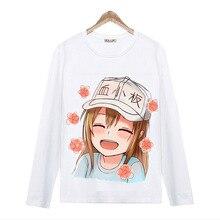 Cells at Work Anime Men's Women's T Shirt O-Neck Long Sleeve T-Shirt Japan COS Clothing Casual Tee Shirt S-3XL