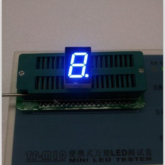 Free Ship 100pc Common Cathode 0.5inch Digital Tube 1 Bit Digital Tube Display Blue Digital Led Tube  Factory Direct