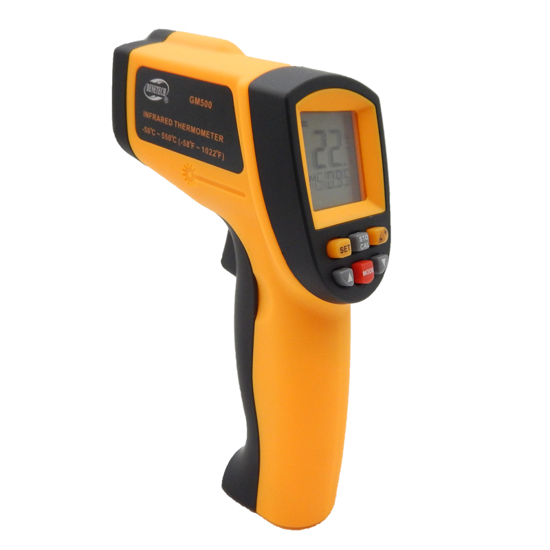 Non contact Digital Laser infrared thermometer GM500 -50~550C(-58~1022F) Themperature Pyrometer IR Laser Point Gun EMS 0.1-1.0 цена 2016